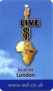 LIVE 8 2005 LAMINATED PROMO BACKSTAGE PASS COLDPLAY U2 MADONNA