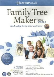 Family Tree Maker 2011 World Edition Ancestry Co UK New and SEALED New