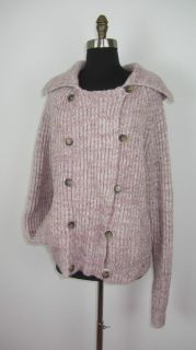 AMERICAN EAGLE Wool & Alpaca Lavender Military Style Sweater Jacket