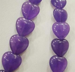 10x10mm amethyst flat heart shaped beads 15 aaa from china