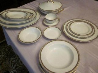 Antique Haviland Limoges China Schleiger 997 62 Pieces