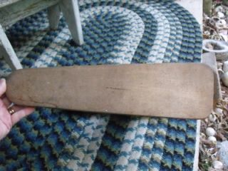 Small Primitive Antique Wood & Iron Table Top Ironing Board Great