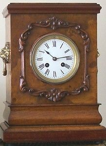 Antique French Mantle Clock Case Made from Walnut Wood