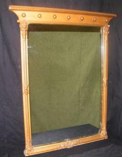 Antique Vintage Ornate Wood Victorian Gold Wall Mirror