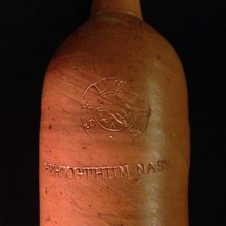 Antique Stoneware German Bottle HERZOGTHUM NASSAU 102 Clay RARE