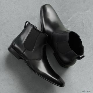 Marc Anthony Ankle Boots Black Leather Slip on 13