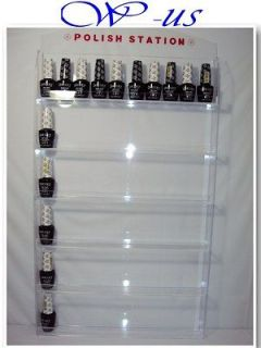 Nail Polish Wall Rack Display Acrylic hold up 60 bottles ( With header