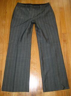 ANNE KLEIN SUIT dress PANTS/SLACKS~ 8P sz 8 PETITE~LINED~STRIPED~WOOL