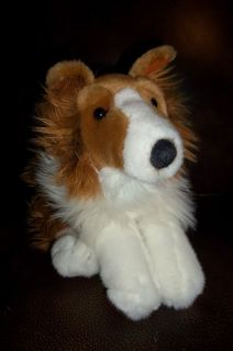 Animal Alley plush stuffed COLLIE dog Toys R Us 15 tan brown white TRU
