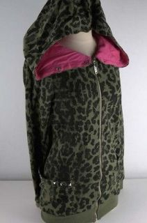 abbey dawn green leopard knock out hoodie junior 3843