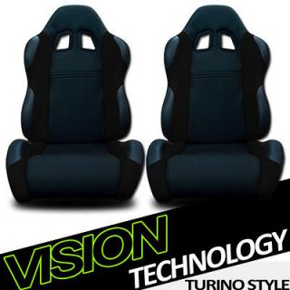 Fabric & PVC Leather Reclinable Racing Seats+Sliders GMC (Fits Yukon