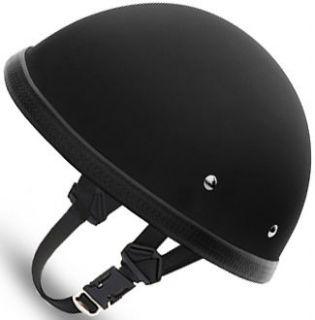 FLAT BLACK EZ Rider Daytona NOVELTY Motorcycle Half Helmet LOW PROFILE