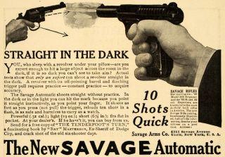 1909 Ad Savage Arms Co Automatic Rifles Revolver Gun   ORIGINAL