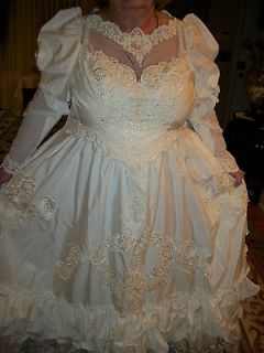 PLUS SIZE 24 / 26 / 28 BEADED BRIDAL WEDDING DRESS GOWN L@@K