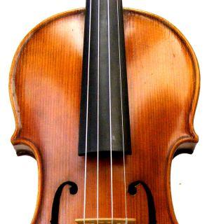 Estate Fine Antique German Violin Labeled Powerful Rich Tone Listen