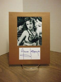 Anne Jeffreys Autograph Signed Display Super Sexy Signature COA