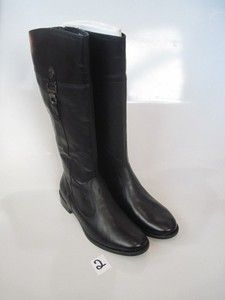 AK Anne Klein Iflex Carloew Wide Calf Riding Tall Leather Boots Womens