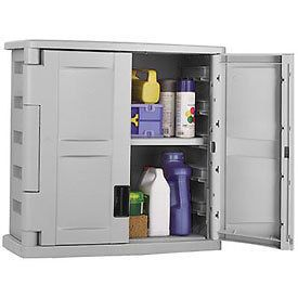 gray wall mount garage storage cabinet  105