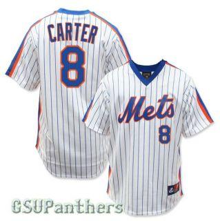 Gary Carter New York Mets 1986 Cooperstown Home Jersey Mens Sz s 2XL