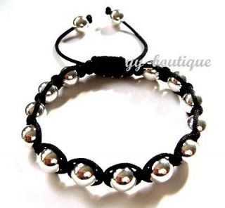 Crystal Disco Ball Beads Durable Genuine Leather Friendship Bracelets