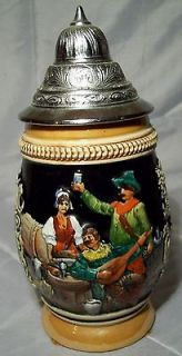 German Lidded Beer Stein Albert Jacob Thewalt The Innkeepers Hostess