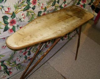 Wonderful Antique Wooden Ironing Board Trenton NJ