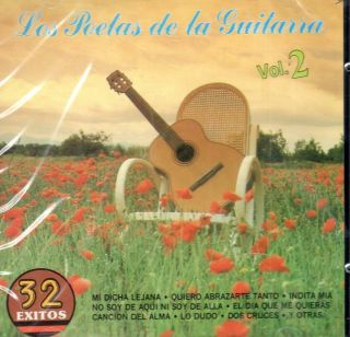 LOS POETAS DE LA GUITARRA VOL 2 32 EXITOS BRAND NEW SEALED CD