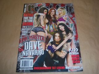Rebel Ink Magazine March/April 2012 Dave Navarro, Tila Tequila, Meagan