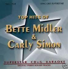 BETTE MIDLER The Rose CARLY SIMON Youre So Vain Karaoke CDG CD Songs