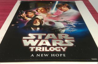 Star Wars Episode 4 A New Hope DVD Movie Poster 1 Sided Original 27x40