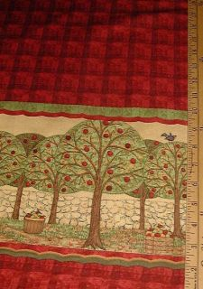 Debbie Mumm Fabric Apple Harvest Double Border 60 Wide