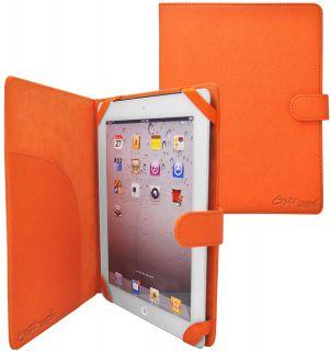 slim folio leather case for apple ipad 3 orange this crazyondigital