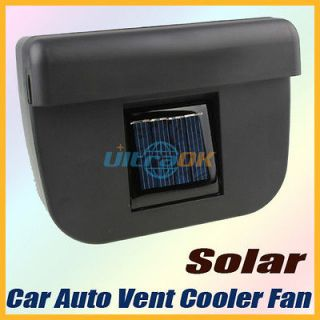 Solar Powered Car Auto Air Vent Cool Cooler Fan With Rubber Strip