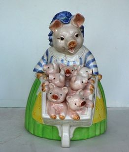 PRUNELLA PIG   VINTAGE COOKIE JAR   FITZ & FLOYD   AUTHENTIC