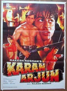 India Bollywood 1995 Karan Arjun 30x40 Original Release Poster