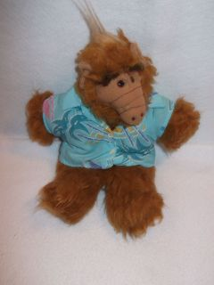 Vintage 1988 ALF plush puppet doll hawaaiin shirt luau toy BURGER KING