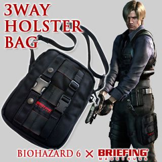 RESIDENT EVIL BIOHAZARD 6 xBriefing 3way Holster Bag limited new