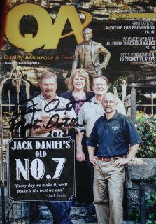 JEFF ARNETT~ SIGNED QA and Food Safety Magazine 6 Page Article ~ Jack