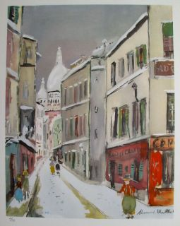Maurice Utrillo 1955 Signed Lithograph Saint Rustique