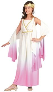 Child Roman Costume Greek Athena Goddess Dress Gown Toga