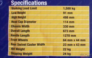 Arcan Low Profile Hydraulic Floor Trolley Jack Hand Lift 1 5 Ton New