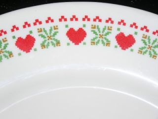 Dessert Plate Arcopal France Valentine Hearts China Dinnerware