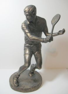 1978 Austin Products Bronze Male Tennis Player 16 Sculpture by Klara