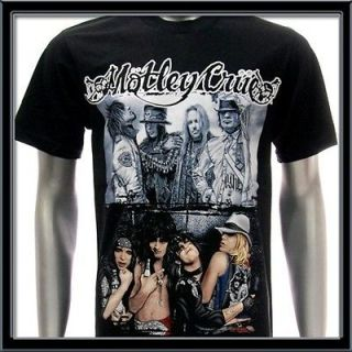 Sz M Motley Crue T shirt Tommy Lee Rock Music Band Tour Black