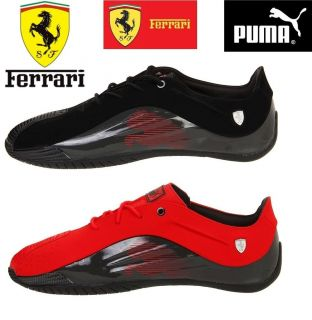 PUMA Kraftek SF Black Raven Red Leather Fashion Sneackers Men Shoes