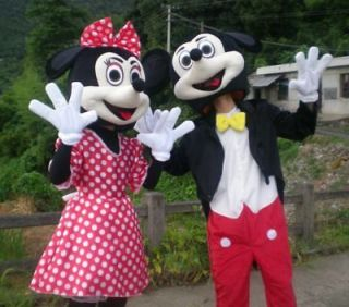new mickey mouse and minnie mouse mascot costume