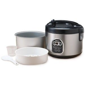 Aroma Arc 150SB 20 Cup Cooked Digital Rice Cooker Food Steamer New