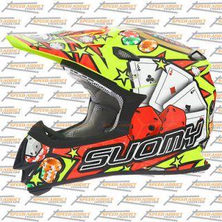 Suomy Mr Jump MX 2013 Jackpot Yellow Dirt Bike Motorcross Helmet Large