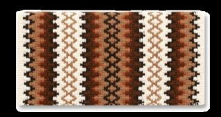 Saddle Blanket Throw Rug 38 x 34 Arroyo Seco NZ Wool