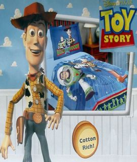 DISNEY PIXAR TOY STORY TWIN COMFORTER SHAM BEDDING SET NEW
